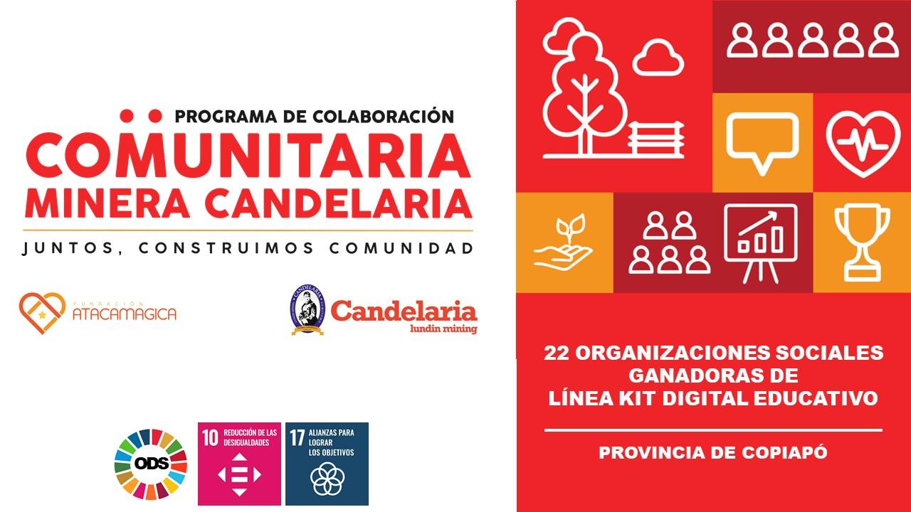 Segundo llamado de la nueva línea de Apoyo a la Educación benefició a 22 organizaciones sociales de Tierra Amarilla, Caldera y Copiapó